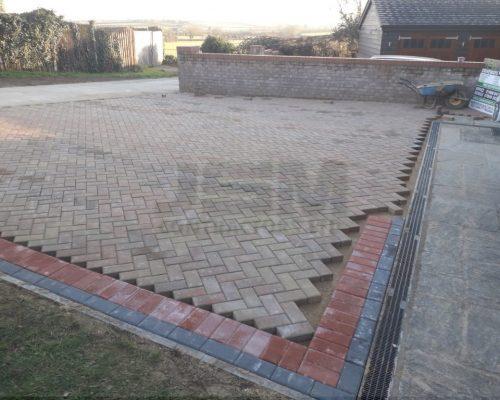 New Block Paved Driveway in Northampton