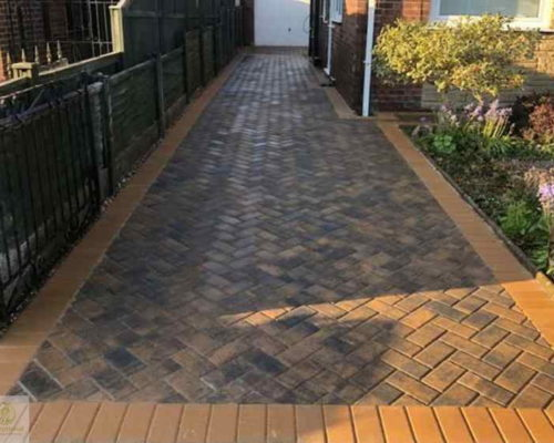 New Block Paved Driveway in Northampton