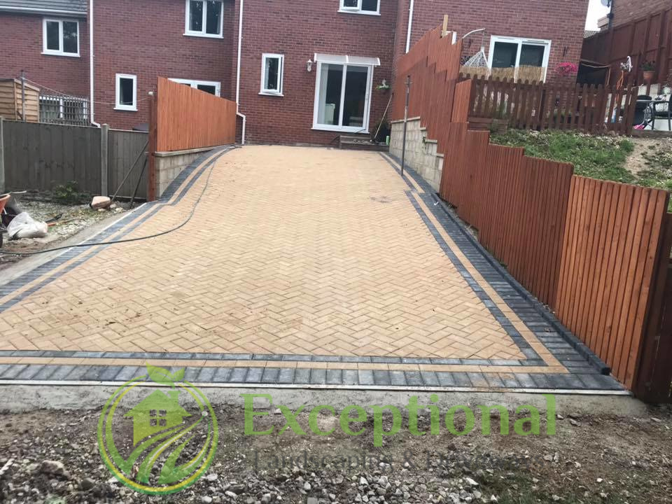 Block Paving Patio Area in Northampton